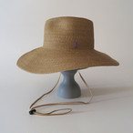 SS20-BE-5 Paper Braid Long Brim Hat BEG