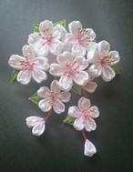 つまみ細工〜桜の髪飾り〜