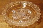 脚付 ガラスプレート デザート皿 ガラス皿 フルーツコンポート ケーキ皿 果物 オブジェ インテリア 昭和レトロ 古道具