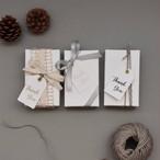 アクセサリー用小箱 名刺サイズ 白ザラザラ 10枚入