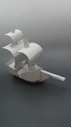 段ボールで出来た海賊船
