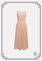 【70%OFF・B品】Back Open Resort Chiffon Dress / 背中空きシフォンワンピース