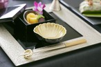 菊鉢 金粉蒔き