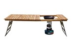 Oak standard folding table Stove hole(ストーブ穴有り) CAMPOOPARTS  オーク スタンダード 折り畳みテーブル W1200 キャンプ オーパーツ