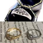 (日本の秀逸なデザイン✨菊爪)Japanese vintage pm850 ring