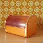 昭和レトロポップ フードケース 大型 オレンジ チェック柄