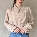 131.rétro blouse◇レトロブラウス