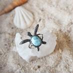 Larimar Turtle Ring #2