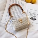 「小物」絶対流行ファッション差込錠草編み無地斜め掛けバッグ20606075