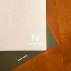 ノンブルノート「N」(05)キャンディピンク×チョコレート