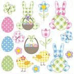 2月上旬入荷|2020春夏【Daisy】バラ売り2枚 ランチサイズ ペーパーナプキン Pastel Easter Set パステル