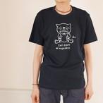 新色♪にゃんきーとすTシャツ「おやこねこ」ブラック
