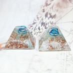 マヤピラミッド型 アクアマリン ミニオルゴナイト
