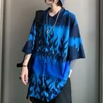 ブルーファイヤーパターンビッグYシャツ / HWG136