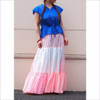 【sandglass】dot chiffon tiered skirt / 【サンドグラス】ドット シフォン ティアード スカート