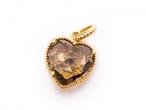 Sweet Heart 宝石質スモーキークォーツ K10 ネックレス 42cmまで調整可 スライドボールつき