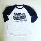 ラグラン3/4スリーブ Tシャツ Mr.G SIGN
