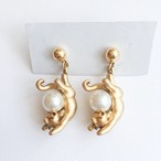 gold pearl cat pierce[p-]