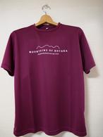 【穂高連峰 MOUNTAINS OF HOTAKA_ワインレッド】Tシャツ