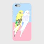 iPhoneケース セキセイインコ 黄ハルクイン&ミヤコセキセイ【各機種対応】