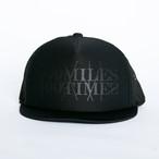 HUNGERKNOCK 100MILES100TIMES CAP(BLACK/BLACK)