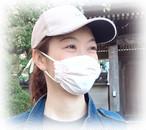 Sサイズマスク コットン×ガーゼ/子供〜女性サイズ クリームorピンク