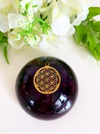 【アメジスト(紫水晶)】ドーム型オルゴナイト・135《7cm》