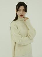 winter pastel high neck knit