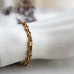 ヴィンテージ 真鍮のチューブビーズを繋げたチェーン(20センチ)