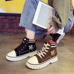 【shoes】帆布キャンパス刺繡入りカジュアル暖かいシューズ 23873087