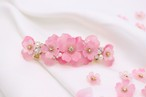 桜とbijouのヘアバレッタ