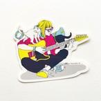 猫ギターステッカー【保護猫寄付金対象商品】