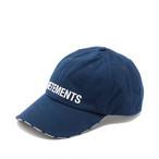 VETEMENTS LOGO CAP キャップ / NAVY / 2019AW