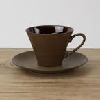 【SL-0006】 磁器 コーヒーソーサー 茶