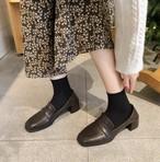 レディース ローファー 革靴 スクエアトゥ チャンキーヒール 合皮 革 春秋 履きやすい 入学式 卒業式 結婚式 フォーマル 韓国