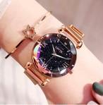 ❤❤人気商品❤ ❤【手元を華やかに♡】  満点の星空のような腕時計 レディース 腕時計 ゴールド 金 高級 星空 ローマ数字 ファッション エレガント マグネット 防水 ギフト CDiscount-10-gold