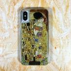 ARTiFY iPhone X/Xs グリッターケース クリムト キス ゴールド  AJ00394