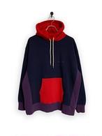 Original Hooded Sweatshirt / 3tone /navy×red×purple