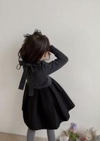 首後ろリボン・ふんわりワンピース(スカート黒)