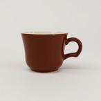 【SL-0033】磁器 コーヒーカップ 赤茶色