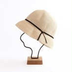 mature ha./paper braid light hat short/natural×black