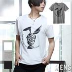 ガスマスクラビット  T-shirt(メンズ&レディース)