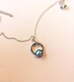 Vintage glass Ring Necklace #1770 gold ヴィンテージガラスリングネックレス/ゴールド