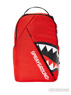 【SPRAY GROUND】ANGLED GHOST SHARK BACKPACK  RED
