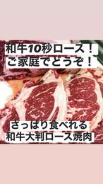 黒毛和牛大判ローススライス(焼肉用) 500g 冷凍