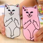 Cartoon Animal Rubber Finger Capa For iPhone 1389