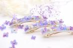 紫陽花とbijou*おしゃれスリムバレッタ(6.5㎝)