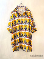 【MARK GONZALES】Graphic Open Collar S/S Shirts YELLOW