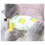 【犬服・ドッグウエア】パイナップル柄のラグランシャツ
