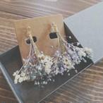 イヤリング_デージーとかすみ草のドライフラワー(プリザーブドフラワー)のブーケ『flower shower』(フラワーシャワー)_3